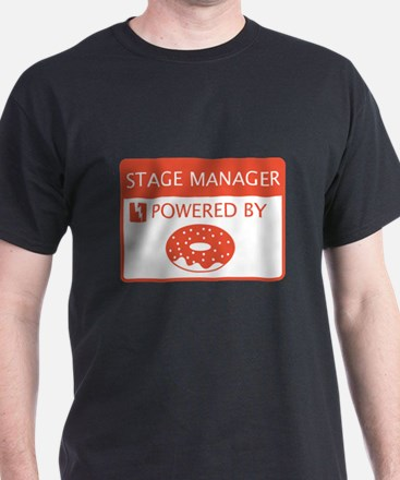 Stage Manager Powered by Doughnuts T-Shirt
