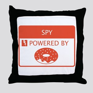 Spy Powered by Doughnuts Throw Pillow