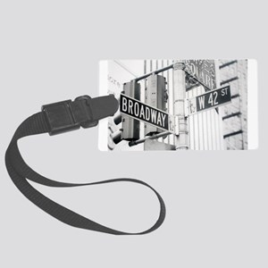 NY Broadway Times Square - Large Luggage Tag