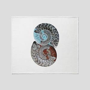 ammonite ying and yang shirt Throw Blanket