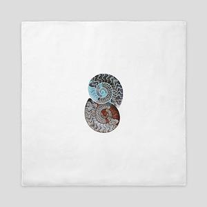ammonite ying and yang shirt Queen Duvet