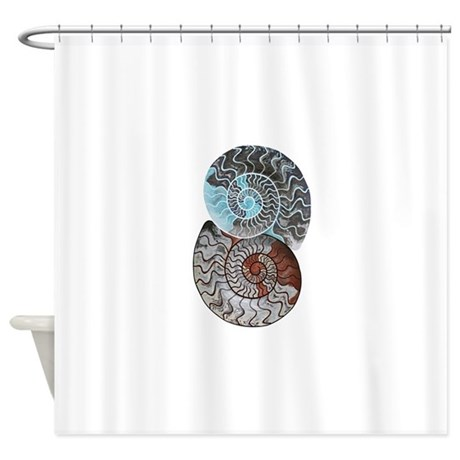 ammonite ying and yang shirt.png Shower Curtain