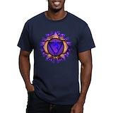 Chakra Fitted Dark T-Shirts