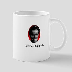 Mitt likes sport. Mug