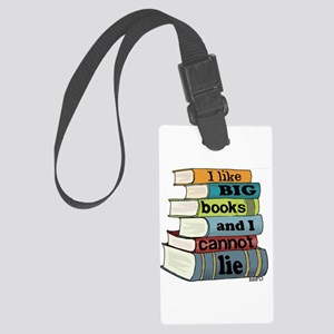 I Like Big Books Large Luggage Tag
