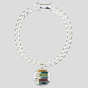 I Like Big Books Charm Bracelet, One Charm