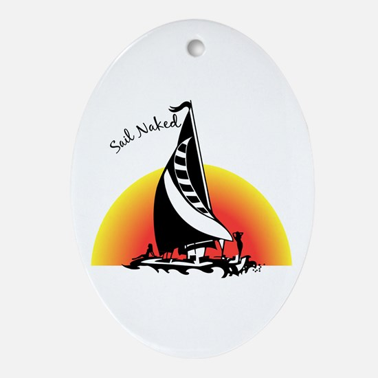 Sail Naked Oval Ornament