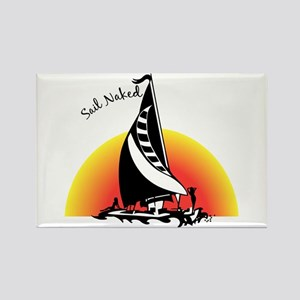 Sail Naked Rectangle Magnet
