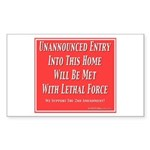 Lethal Force Sticker (Rectangle 10 pk)