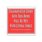 """Lethal Force Square Sticker 3"""" x 3"""""""