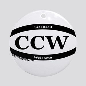 CCW Welcome, Black & White Ornament (Round)