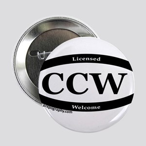 "CCW Welcome, Black & White 2.25"" Button"