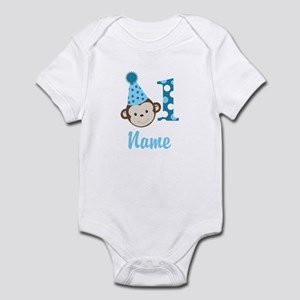 Monkey 1st Birthday Infant Add A Name Body Suit