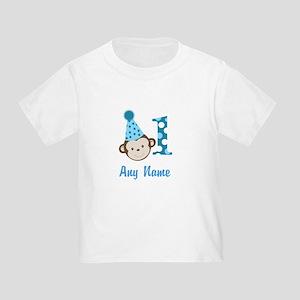 Monkey 1st Birthday Toddler T-Shirt - Add A Name