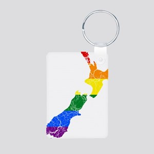 New Zealand Rainbow Pride Flag And Map Aluminum Ph