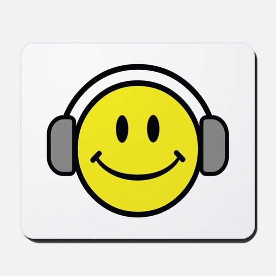Smiley Face Music Lover Mousepad
