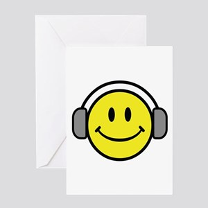 Smiley Face Music Lover Greeting Card