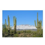 Snowy Four Peaks no Border Postcards (Package of
