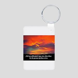 Faith Hope Love Aluminum Photo Keychain