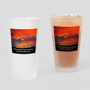 Faith Hope Love Drinking Glass