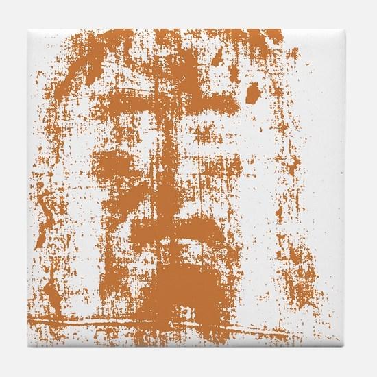 Jesus, Shroud of Turin Tile Coaster