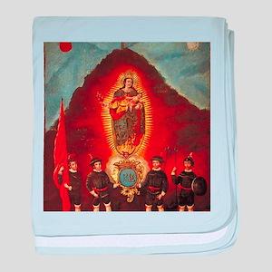Escudo de la ciudad de zacatecas baby blanket