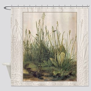 Albrecht Durer Great Piece Of Turf Shower Curtain