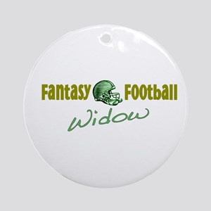 Fantasy Football Widow Ornament (Round)