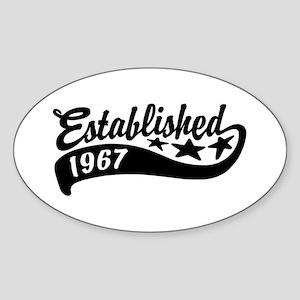 Established 1967 Sticker (Oval)