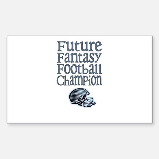 Future FF Champ (Blue) Rectangle Decal