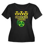 Good-bye Nuclear Women's Plus Size Scoop Neck Dark