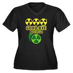 Good-bye Nuclear Women's Plus Size V-Neck Dark T-S