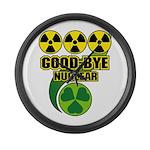 Good-bye Nuclear Large Wall Clock