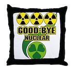 Good-bye Nuclear Throw Pillow