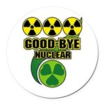 Good-bye Nuclear Round Car Magnet
