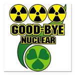 Good-bye Nuclear Square Car Magnet 3