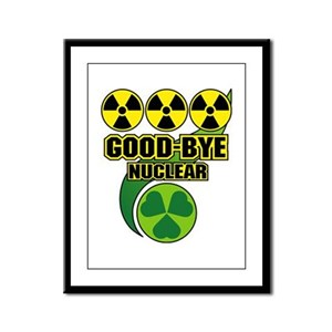 Good-bye Nuclear Framed Panel Print