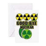 Good-bye Nuclear Greeting Cards (Pk of 10)