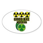 Good-bye Nuclear Sticker (Oval 10 pk)