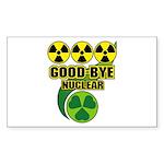 Good-bye Nuclear Sticker (Rectangle 10 pk)