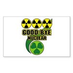 Good-bye Nuclear Sticker (Rectangle 50 pk)