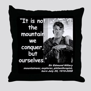 Hillary Conquer Quote 2 Throw Pillow