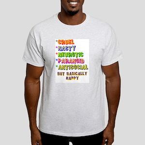 Cruel but Happy Ash Grey T-Shirt