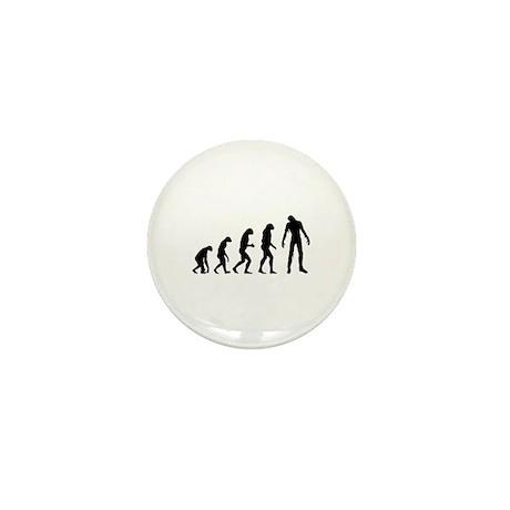 Evolution zombie Mini Button