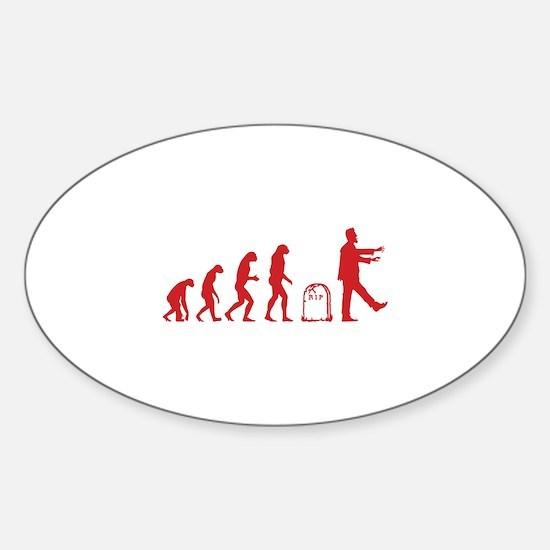 Evolution zombie Sticker (Oval)