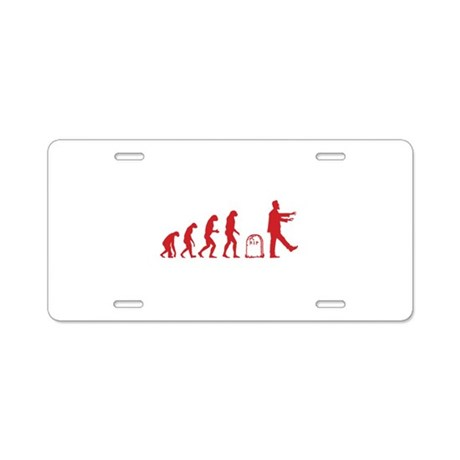 Evolution zombie Aluminum License Plate