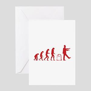 Evolution zombie greeting cards cafepress evolution zombie greeting card m4hsunfo