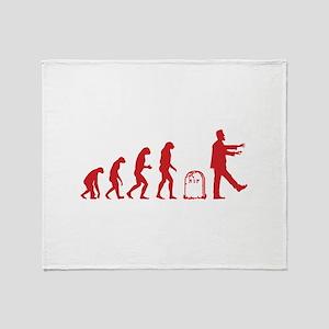 Evolution zombie Throw Blanket