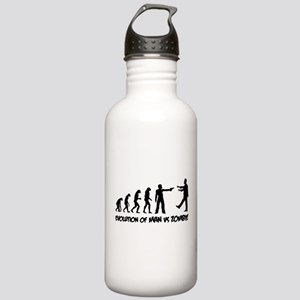 Evolution of man vs zombie Stainless Water Bottle