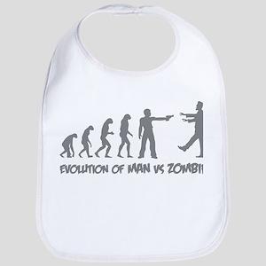 Evolution of man vs zombie Bib